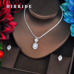HIBRIDE Newest Clear CZ <b>Jewelry</b> Sets Brilliant Cubic Zircon <b>Wedding</b> Party Earrings Necklace <b>Jewelry</b> Sets For Heavy Dinner N-578