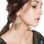 Big Scorpion Design Inlay Zricon Personality Hoops Earrings For Women Exaggerated Hoop Female Ear <b>Fashion</b> <b>Jewelry</b> 2016 Earing