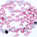 4mm 10000pcs Many Colors Acrylic Rhinestones Flatback Square Earth Facets Glue On Beads DIY Crafts <b>Jewelry</b> Making <b>Supplies</b>