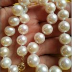 GENUINE18″ AAA+ 12-14 MM WHITE AAA++ SOUTH SEA PEARL NECKLACE & <b>EARRING</b> 925silver GOLD