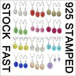 JEXXI Fast Free Ship Wholesale Austrian Crystal Disco Ball 925 Sterling Silver Shamballa Hook Earring Necklaces Gift Sets