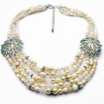 xl00901 Free Shipping Wholesale <b>Jewelry</b> White Gold Multi-Chains Beach Pearl Clam Rhinestone Choker Necklaces Pendant <b>Accessories</b>
