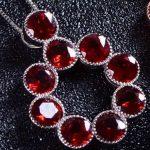 natural red garnet stone pendant S925 <b>silver</b> Natural gemstone Pendant <b>Necklace</b> trendy big Round ball women wedding jewelry