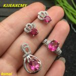 KJJEAXCMY boutique jewels 925 <b>silver</b> inlay natural Pink Topaz Ring Pendant <b>Earrings</b> 3 suit jewelry necklace sendfgh