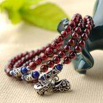 Wine Red Garnet Multi-turn Bracelet Female Garnet Fashion Bracelet Crystal Jewelry <b>Necklace</b>