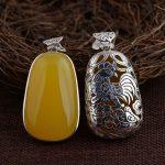 FNJ 925 <b>Silver</b> Zodiac Pendant 100% Pure S925 Thai <b>Silver</b> Natural Chalcedony Monkey OX Pendants for Women Men <b>Jewelry</b> Making