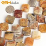 Natural Square Shape Yellow Crazy Lace Agates Stone Beads For <b>Jewelry</b> <b>Making</b> 16mm 15inches DIY FreeShipping Wholesale Gem-inside
