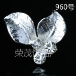 50pcs new design Gold/silver plated charm Tree leaf pendant for DIY Hairpin <b>jewellery</b> findings Hair <b>Decoration</b> Accessories