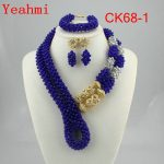 <b>Handmade</b> Luxury African beads <b>jewelry</b> sets indian beaded nigerian wedding bridal beads necklace dubai <b>jewelry</b> sets CK68-1