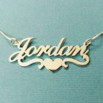 Heart With Personalized Name Necklace & Pendants For Women Custom Letter <b>Jewelry</b> Stainless Steel Gold Filled Bridesmaid Gifts