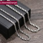 2017 925 <b>Sterling</b> Thai <b>silver</b> Vinage Necklace Men Weave Pendant Long Rope Chain Necklace women Gift Fine <b>Jewelry</b> N25