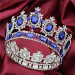 Ladies Luxury <b>Wedding</b> Crowns and Tiaras Hair <b>Jewelry</b> Crystal Rhinestone Diadem Prom Headdress Bride tiara Big Crown Pageant