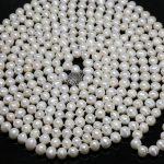 New fashion elegant women natural white pearl round beads 7-8,8-9mm long chain necklace weddings <b>jewelry</b> <b>making</b> 100inch B1463