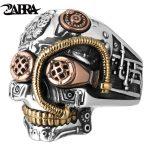 ZABRA Solid 925 <b>Sterling</b> <b>Silver</b> Skull Ring Men Big Heavy Vintage Punk Biker Rings <b>Silver</b> Man Gothic <b>Jewelry</b> For Male