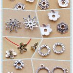 beads cap circle flower shape alloy <b>antique</b> silver charm pendant choker DIY jewerly 8styles 100/200/300pcs free shipping