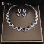 RAKOL Shiny Dazzling Austrian Crystal <b>Necklace</b> Earrings For Women Bridal Wedding <b>Jewelries</b> Set Fashion CZ zirconia <b>Jewelry</b>