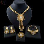 Yulaili <b>Jewelry</b> Sets Bridesmaids Luxury African Beads <b>Jewelry</b> Set in Gold Color Party Jewerly Sets Choker Womens Costume <b>Jewelry</b>