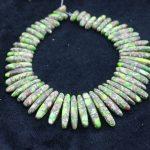 New Beautiful Green Stone Necklace Point Pendant Beads, Top Drilled Women Fashion <b>Jewelry</b> Spike DIY <b>Making</b> Finding Gems