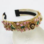 New Arrival Baroque Ceramic Flower Crown Metal Bee Headband Bridal Tiara <b>Wedding</b> Hair Accessories 2018 Hot Fashion Women <b>Jewelry</b>