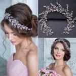 Luxury Silver Hair <b>Jewelry</b> For Women Pink Rhinestone Pearl Tiara Headbands <b>Handmade</b> Bridal Hairbands Wedding Hair Accessories