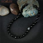 KCALOE Choker Necklace Black Onyx Stone Vintage <b>Accessories</b> Handmade Rope Strand Statement Necklaces Women <b>Jewelry</b> Collares