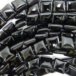 10mm black onyx flat square beads 15″ strand Loose beads DIY <b>Jewelry</b> <b>Making</b> Necklace Bracelet