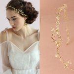 Boho Gold Silver Branch Wedding Headband Hair Vine Accessories <b>Handmade</b> Bridal Pearl Hair <b>Jewelry</b> Headpiece Women Headbands