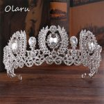 Olaru Good Quality Crystal Queen Crown Woman Princess Wedding Events Tiaras Hairwear Charm Bridal Crown <b>Jewelry</b> Accessories Hot