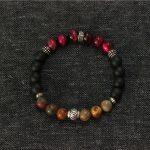 Mens Bracelets Sterling Silver <b>Jewelry</b> Red Tiger-eye Natural Stone Bracelet Femme Men Bracelet Jewellery Men <b>Accessories</b>