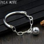 OL Style 12mm <b>Silver</b> Ball Fashion Charm <b>Bracelets</b> & Bangles 925 Thai <b>Silver</b> 4mm Width Tube <b>Bracelet</b> Jewelry Gift For Women 10G