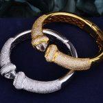GODKI Luxury Trendy Triangle Full Cubic Zirconia Women <b>Wedding</b> Party Engagement Resizable Bracelet Bangle Dress Up <b>Jewelry</b>