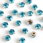 Aqumarine color Crystal DIY Stone With Metal silver Gold Claw Claw Setting For Sewing On <b>Jewelry</b>,Dress,Clothes <b>making</b>