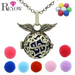 Pregnant Womens Mexican Chime Ball <b>Antique</b> Bronze Branch Hollow Wings Locet Aromatherapy Essential Oil Diffuser Necklace <b>Jewelry</b>