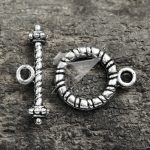 100Pcs Tibetan/<b>Antique</b> Silver Tone Round Bar Ring Toggle Zinc Alloy Jewellry Making Findings Fit Bracelet Necklace TS1397