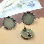 50pcs/Lot 20mm,25mm Crown Pad/Tray Brooches <b>Antique</b> Bronze vintage cabochon pin base blank settings diy handmade <b>jewelry</b>