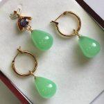 real Women's Wedding Hot! beautiful new 12*16mm light green gem stone pendant, earring set silver-<b>jewelry</b>