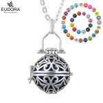 Eudora <b>Jewelry</b> <b>Antique</b> Style Fashion Copper Metal Locket Cage Pendant fit 18mm Harmony Bola Ball Necklace Angel Caller Pendants