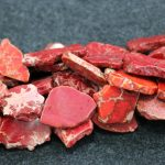 Gems Stone Red Sea Sediment Imperial Stone Smooth Slacb Slice Loose Beads For <b>Jewelry</b> <b>Making</b> Finding