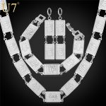 U7 Classic Allah <b>Jewelry</b> Set Islamic Square Shape Religious Earrings Bracelet <b>Necklace</b> Set Muslim S647