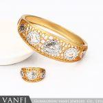 New Fashion Gold plating Bracelets For Women Luxury White Stones Zirconia Wedding <b>Jewelry</b> Bangle Wholesale <b>Accessories</b>