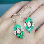 natural green emerald <b>earrings</b> 925 <b>silver</b> Natural gemstone <b>earring</b> women fashion elegant diamond <b>earrings</b> for party