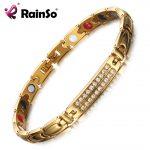 RainSo Magnetic Bracelets & Bangles for Women Zircon crystal Bracelets Healthy <b>Jewelry</b> for Women Bio Energy Hologram Bracelets