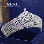 MANWII New luxury AAA zircon Tiaras and Crowns bride <b>wedding</b> tiara hair accessories women head <b>jewelry</b> princess ornament HD2050