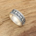 Factory wholesale sterling silver <b>jewelry</b> <b>handmade</b> silver rings S925 Vintage Mens Thai six words ring