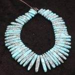 New Beautiful Turquoises Stone Necklace Point Pendant Beads, Top Drilled Women Fashion <b>Jewelry</b> Spike DIY <b>Making</b> Finding Gems