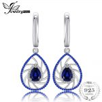 JewelryPalace 1ct Pear Shape Created Sapphire & Blue Spinel Dangle <b>Earrings</b> For Women Fashion 925 Sterling <b>Silver</b> Fine Jewelry