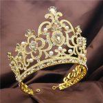 Beauty contest Crown Tiara Bridal <b>Wedding</b> Headdress Ornament Luxury Big Diadem tiaras and crowns hair <b>jewelry</b> accessories