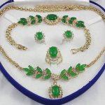 Prett Lovely Women's Wedding set gem gem Necklace Bracelet Ring Earring 5.23 silver-<b>jewelry</b> brinco