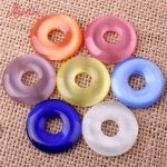 25mm Donut Round Smooth Multicolor Cat Eyes Spacer Pendant Beads 7 Pcs For DIY Bracelet <b>Jewelry</b> <b>Making</b>