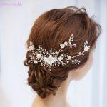 Jonnafe Charming Bridal Floral Hair Vine Pearls Wedding Comb Hair Piece Accessories Women Prom Headpiece <b>Jewelry</b>